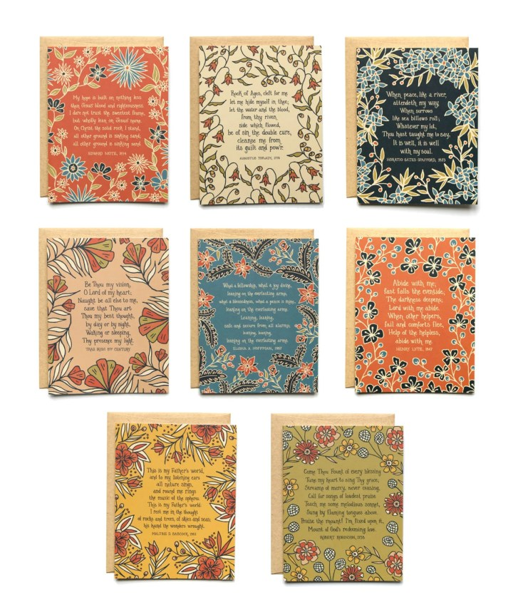 8 Hymn Greeting Cards 8 a...