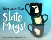 Custom State Mug Handmade with Your Choice of State or Location // Hometown Gifts for Travelers, Students, Away from Home - MADE TO ORDER
