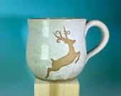 White Speckled Deer Mug /...