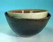 Nesting Bowls in Blue, Lavender and Turquoise // Set of 6 // Handmade Pottery, Wheel-Thrown // Housewarming or Wedding Gifts - READY TO SHIP