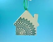 Ornament, Lacy House - Personalize with a name or phrase - READY TO SHIP