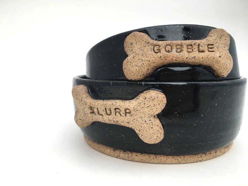 Dog Bowl - Black + Stampe...