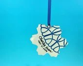 Ornament, Lacy Snowflake - Personalize with a name or phrase - READY TO SHIP