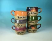 Kids' Mugs Personalized with Your Name // Custom Gifts for Kids // Coffee, Cocoa & Tea // Microwave and Dishwasher Safe  - MADE TO ORDER