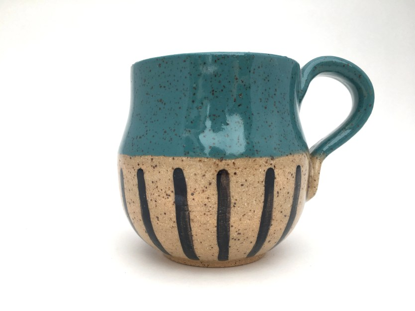 Mug - Curvy Teal Painted ...