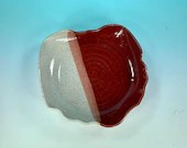Ohio-Shaped Bowl in Red & White // Serving Dish // Decorative Bowl // Gifts for Ohioans and Ohio Lovers  - READY TO SHIP