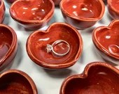 Miniature Red Heart Bowl // February Miniature Pottery of the Month // Tiny Pots, Mugs, Bowls, Jars and Cups  - READY TO SHIP