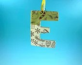 Ornament - E - Ceramic Initial -READY TO SHIP