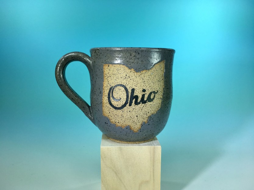 Mug - Ohio Matte Gray Spe...