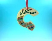 Ornament - G - Ceramic Initial / Alphabet Letter Ornament / Monogram - READY TO SHIP