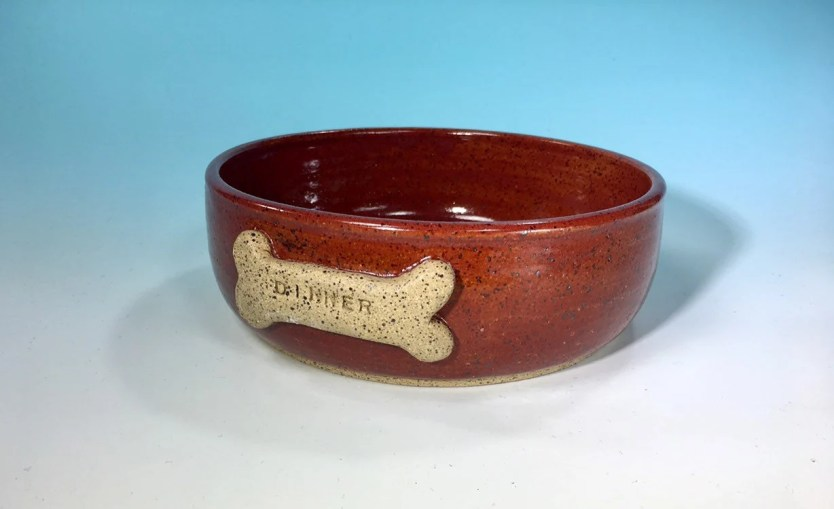 Dog Bowl in Crimson Red +...