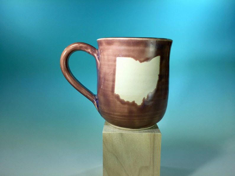 """Ohio Mug in Lavender // Handmade Ceramic Mug with """"Ohio"""" // Gifts  for Ohioans, Travelers or College Students - READY TO SHIP"""
