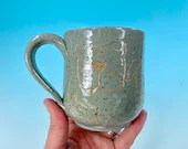 Dog Doodle Mug // Handmade Ceramic Mug with Carved Puppies in Light Gray // Gifts for Dog Lovers - READY TO SHIP