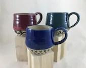 Jewel Toned Ceramic Mug /...