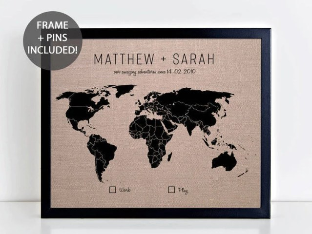Etsy map online interactive map wallpapers online interactive map world travel map etsy couples gift world pushpin map world travel map wedding gift linen anniversary gumiabroncs Choice Image