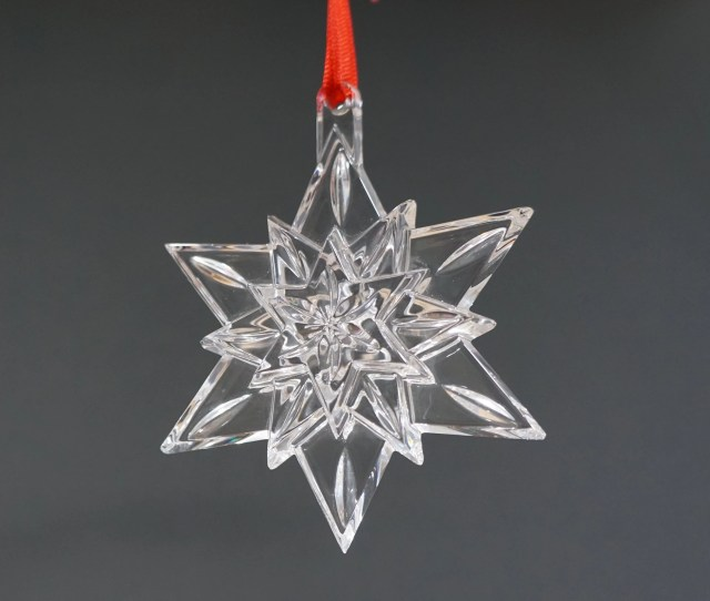 Waterford Crystal Snow Star Ornament Christmas Tree Decorations Window Sun Catcher