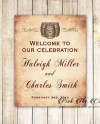Printable Personalized Wine Barrel Welcome Sign Wedding Etsy