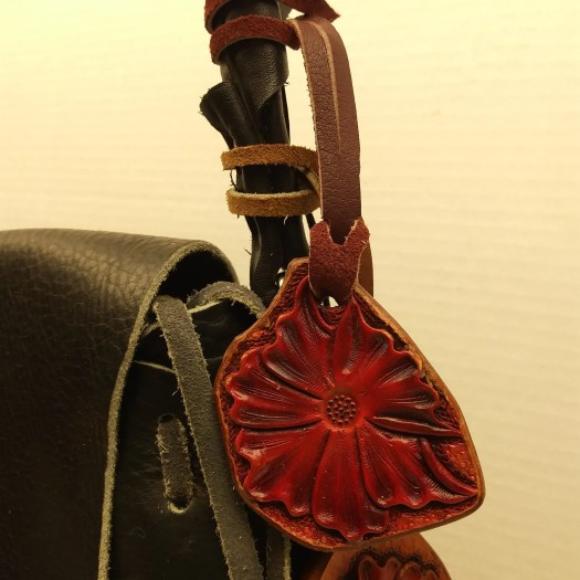 Handbag charm, leather ch...