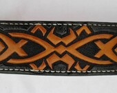 Leather Dog collar, Celti...