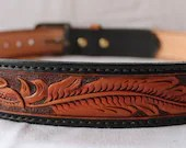 Handmade leather belts, c...