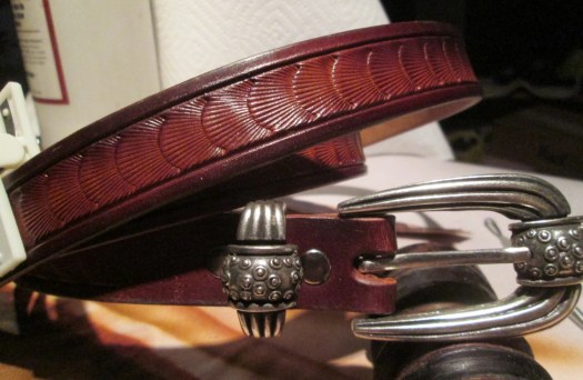 Leather belt , Men's ...