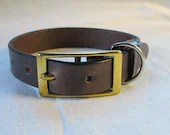 Dog collar, brown collar,...