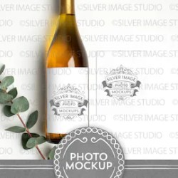 Wine Label Mockup Etsy