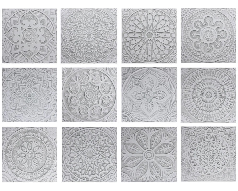 large ceramic tile garden decor decorative tiles for outdoor etsy