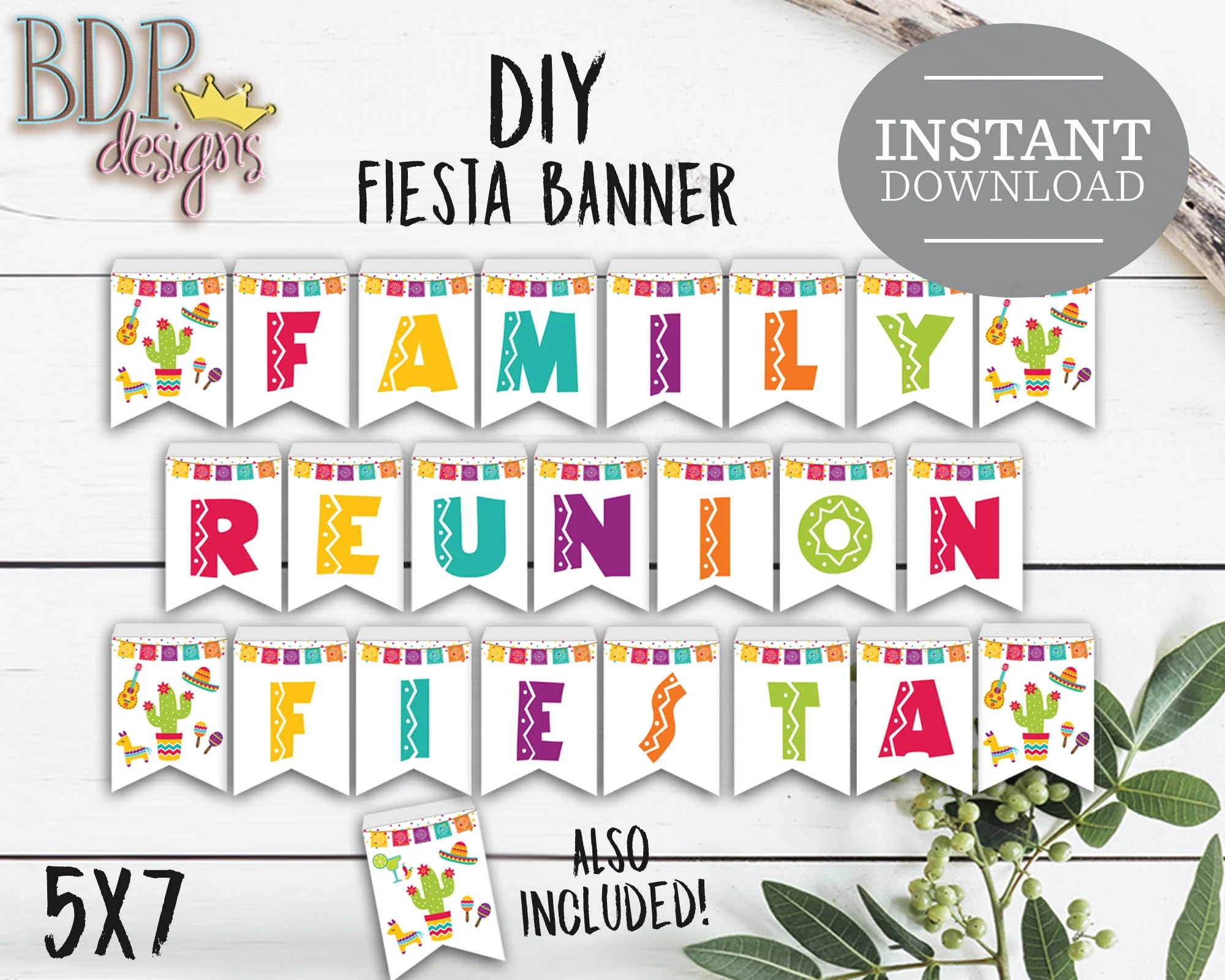 Family Reunion Fiesta Banner Instant Download Fiesta Printable Family Reunion Decorations Family Reunion Banner Fiesta Family Reunion
