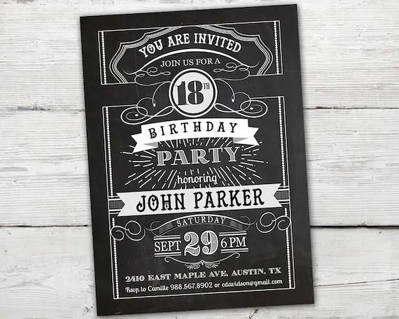 18th birthday invitations boy 18th