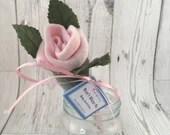 Baby Sock Single Rose - P...