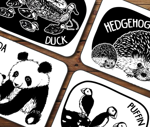 Creature Cards Baby Art Flash Cards Black And White Printable Instant Download Smart Baby Newborn Activity Modern Baby Montessori Baby