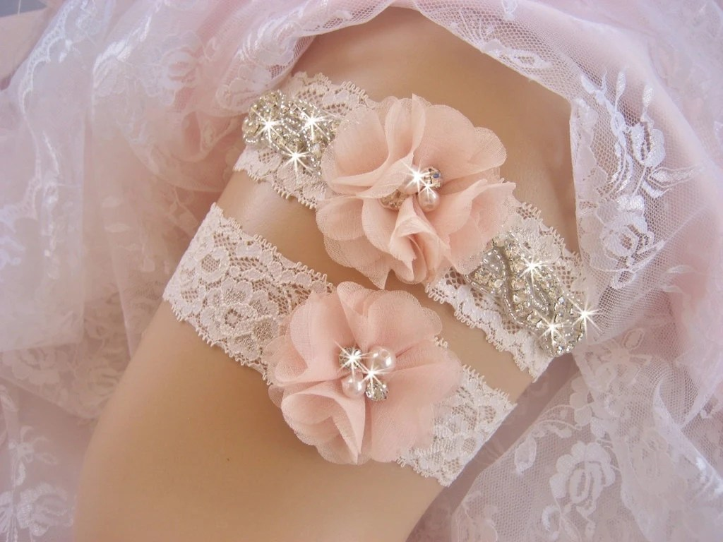 Blush Wedding Garter Set Bridal Garter Set Garters For