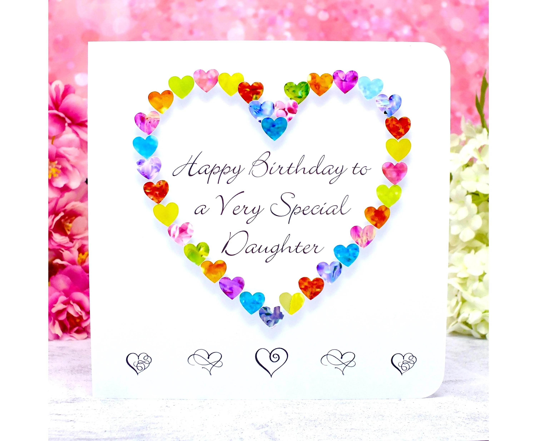 Daughter Birthday Card Handmade Happy Birthday To A Etsy