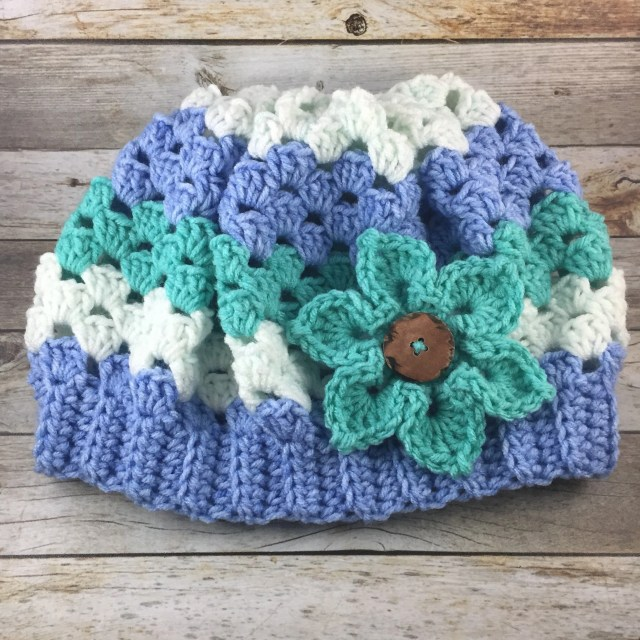 Hand crocheted striped sl...