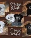 T Shirt Mockup Bundle Bella Canvas 5 Images Mockup Bundle Etsy