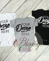 Three Colors Baby Bodysuits Shirt Mockup Black White Gray Etsy
