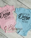 Twin Baby Mockup Pink And Blue Baby Mock Up Boy And Girl Etsy