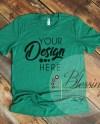 Kelly Green T Shirt Bella Canvas Mockup 3001 Kelly Green Etsy