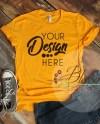 Gold T Shirt Bella Canvas Mockup 3001 Gold Unisex Shirt T Etsy