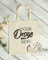 Tote Bag Mockup Canvas Tote Mockup Natural Tote Mock Up Blank Etsy