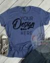 Anvil Tshirt Mockup 880 Women S Tshirt Mockup Heather Blue Etsy