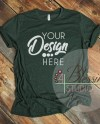 Heather Forest Green Tshirt Bella Canvas Mockup 3001 Heather Etsy
