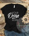 Fall Flat Lay Mockup Bella Canvas 3005 Black V Neck T Shirt Etsy