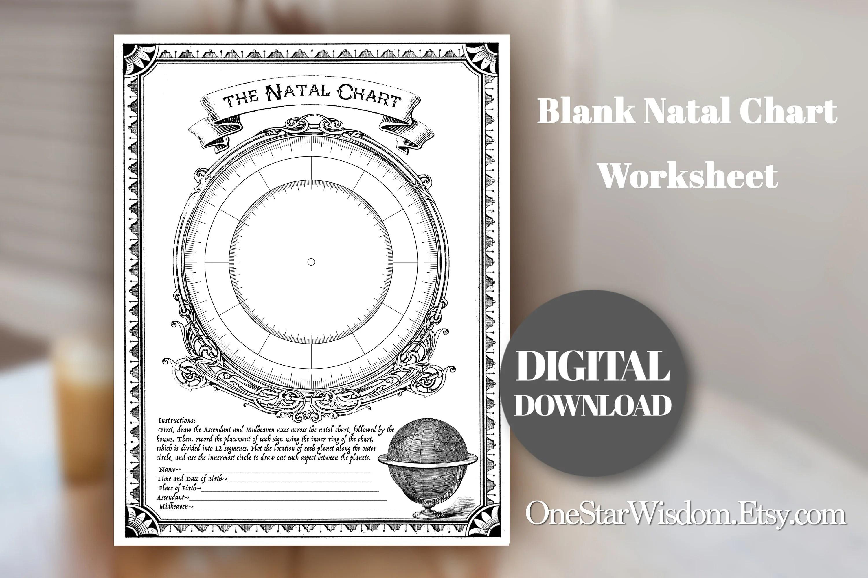 Blank Natal Chart Worksheet Printable
