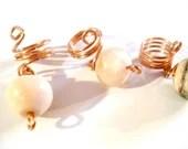 Pink Opal Loc Jewelry//Ch...