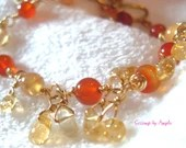 Gold Citrine and Agate Ad...