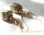 Pyrite Dangle Earrings//G...