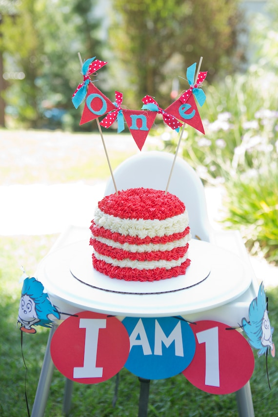 Cat In The Hat Cake Topper Dr Suess Cake Topper First Etsy