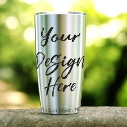Steel Tumbler Mockup Tumbler Template 20oz Travel Flask Etsy